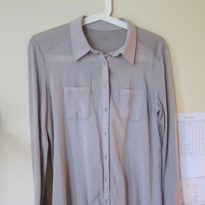 Loft Soft Cotton Button-Down Shirt S New